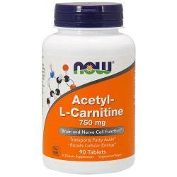 NOW - Acetyl-L-Carnitine 750mg (90 tablets)