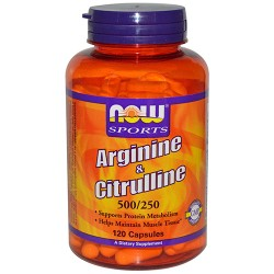 NOW - Arginine & Citrulline 500/250 (120 caps)