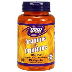 NOW - Arginine & Ornithine 500/250 (100 caps)