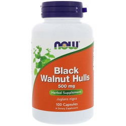 Black Walnut Hulls 500mg (100 caps)