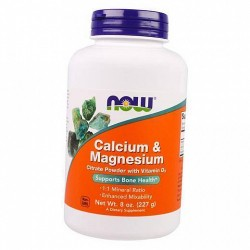 NOW - Calcium & Magnesium Citrate Powder (227 g)