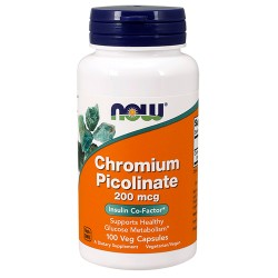 NOW - Chromium picolinate 200mcg (100 caps)