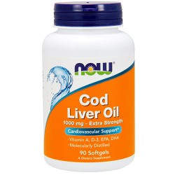 NOW - Cod Liver Oil 1000mg (90 softgel)