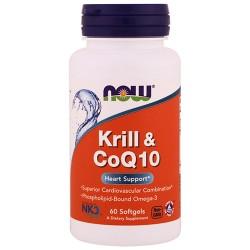 NOW - Krill Oil + CoQ10 (60 softgels)