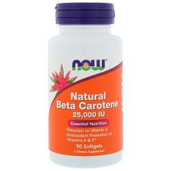 NOW - Natural Beta Carotene 25000 IU (90 softgel)