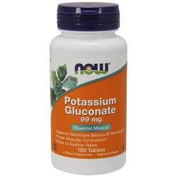 NOW - Potassium Gluconate 99mg (100 tabs)