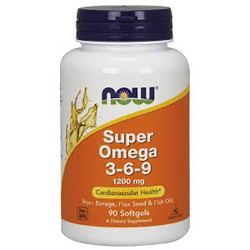 NOW - Super Omega 3-6-9 1200mg (90 softgel)