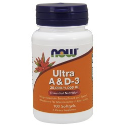 NOW - Ultra A&D-3 25000/1000IU (100 softgels)