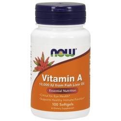 NOW - Vitamin A 10000IU (100 softgels)