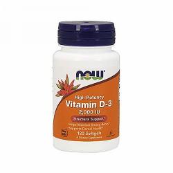 NOW - Vitamin D-3 2000 IU (120 softgel)