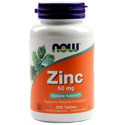 NOW - Zinc 50mg (250 tabs)