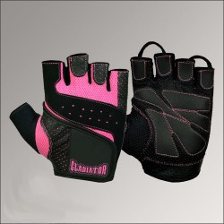 GLADIATOR - Womens Gloves GL-152D Black/liliac (S) (пара)