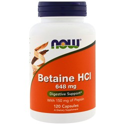 Betaine HCl 648mg (120 caps)