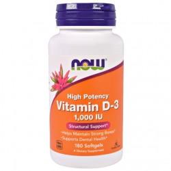 Vitamin D-3 1000 IU (180 softgels)