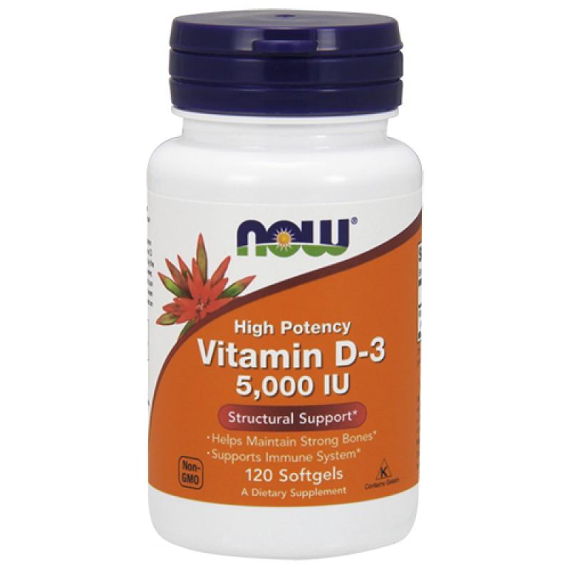 NOW - Vitamin D-3 5000 IU (120 softgel)
